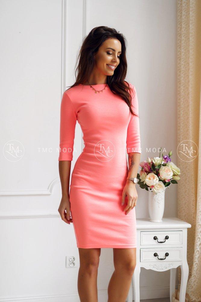 df222949b86b Šaty Kylie s 3 4 rukávom marhuľové