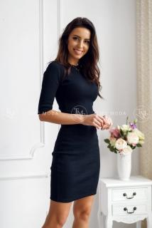 f9663e588e67 Šaty Kylie s 3 4 rukávom čierne empty